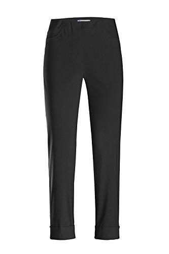 Stehmann - Stretchhose Igor 680 - mit EXTRA-Fashion Armreif - Umschlag und Gesäßtaschen - Schmale Pull-On Hose, Hosengröße:44, Farbe:Schwarz