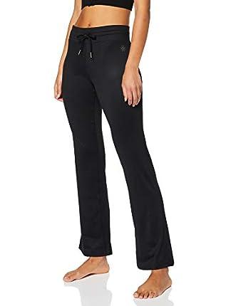 Marca Amazon - AURIQUE Pantalón de Yoga Mujer, Negro (Black), 42, Label:L