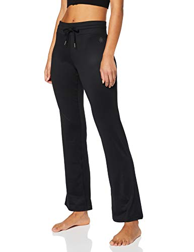 Marchio Amazon - AURIQUE Pantaloni Yoga Donna, Nero (Black), 46, Label:L