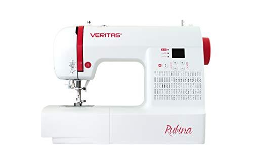 VERITAS Rubina - Máquina de coser digital para principiantes, avanzados y profesionales con pantalla LED, 100 programas de puntada y luz de costura LED