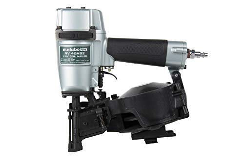 Metabo HPT Roofing Nailer, Pneumatic, Coil Roofing Nails from 7/8-Inch...