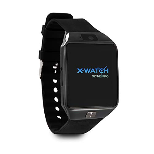 X-WATCH 54024 X30W Smartwatch mit SIM Karte und Kamera - Black Chrome - Smartwatch iOS & Android