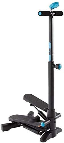 LBWARMB Máquinas de Step Escalera Paso a Paso Multifuncional Cuerpo de la Aptitud con Tirador y Pantalla LCD (Espiral) Manija Ajustable Antideslizante 25 Grados Grueso del Pedal