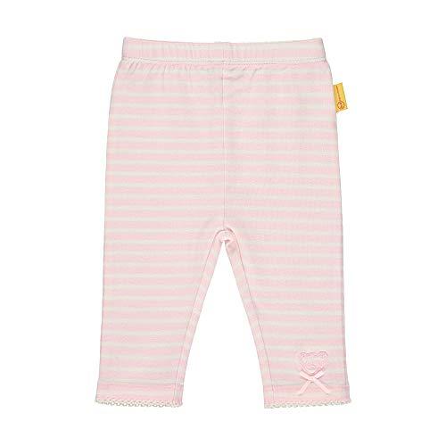 Steiff Baby-Mädchen mit Streifen Leggings, Rosa (Barely Pink 2560), 74 (Herstellergröße: 074)