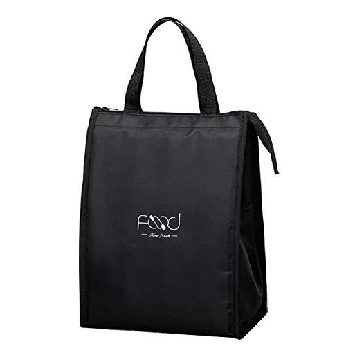 Osail Pranzo al Sacco Isolato, Lunch Bag Riutilizzabile ad Alta capacità a Tre Strati per Isolamento e freschezza, per Adulti/Uomini/Donne (Nero - L)
