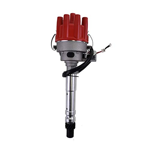 A-Team Performance R2R Ready 2 Run Complete Distributor Compatible With Chevrolet GM Small Block Big Block Chevy SBC BBC 283 305 307 327 350 400 396 427 454 Two-Wire Installation Red Female Cap