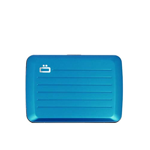 �gon Designs - Stockholm V2 Aluminium Wallet - Metal lock and water resistant - RFID Blocking Card holder - Up to 10 Cards and Banknotes (Blue)
