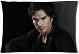 Custom Hot Tv Show Vampire Diaries Ian Somerhalder Pillowcase Standard Size Design Pillow Case Cover 16