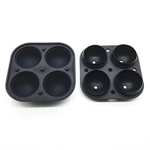 NINAINAI Küchen-Silikon-Eisform Hochwertiges Silikon 4 mit Eishockey-Silikon-Vier Eishockey-Eismaschine Silikon-EIS-Fach Kugeleismaschine (Color : Black, Size : Free Size)