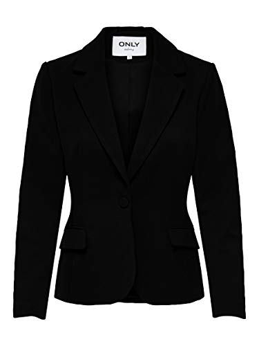 Only ONLTENIA-Lana L/S Fitted Blazer CC TLR, Negro, 36 para Mujer