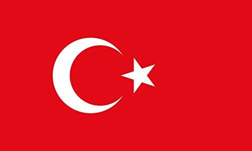 Unbekannt magFlags Tisch-Fahne/Tisch-Flagge: Türkei 15x25cm inkl. Tisch-Ständer
