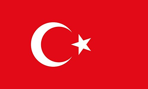magFlags Flagge: Large Türkei | Querformat Fahne | 1.35m² | 90x150cm » Fahne 100% Made in Germany