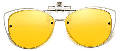 Embryform Gafas de sol con clip,Gafas de sol polarizadas UV400 para hombre y mujer, ajuste cómodo y seguro sobre gafas de sol Gafas de sol con clip en la lente polarizada Flip Up protectoras UV400
