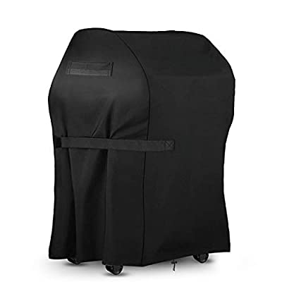 king do way BBQ Grill Cover 30x25x47 inch Heavy Duty Waterproof Small Gas Grill Cover Waterproof/Windproof/Dust UV Resistant BBQ Special Grill Cover for Weber,Brinkmann, Char Broil, Holland and More
