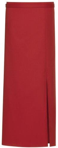 Greiff Bistro Schürze mit Schlitz, 100 cm x 100 cm, kochfest (rot)