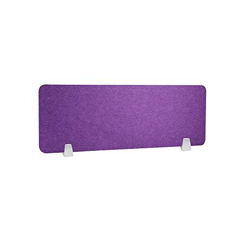 HEFUTE Separador de escritorio con 2 abrazaderas Pantalla de panel de privacidad de uso compartido de escritorio 12 x 32 pulg Reducción de ruido y distracciones visuales