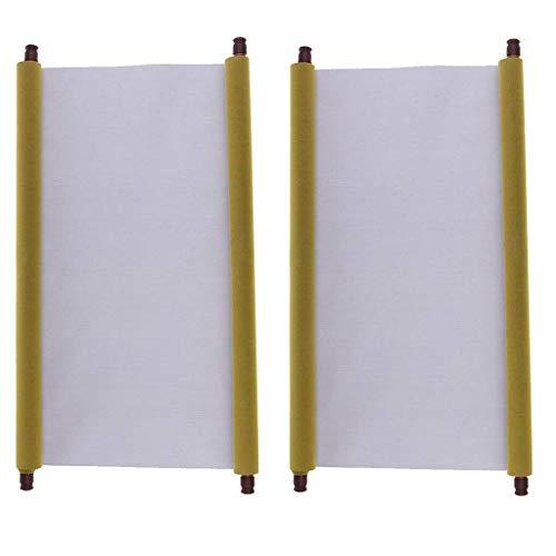 LOVIVER 2 Piezas de Tela Mágica Grande para Escribir con Agua, Estera de Cuaderno con Desplazamiento en Blanco para Practicar Caligrafía China, Actividad Rápi