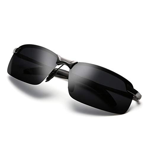 WZNING Que cambia de color Gafas de sol de los hombres de día y noche de doble uso del controlador de conducción gafas de sol polarizadas de conducción de la visión nocturna de manejo especial vidrios