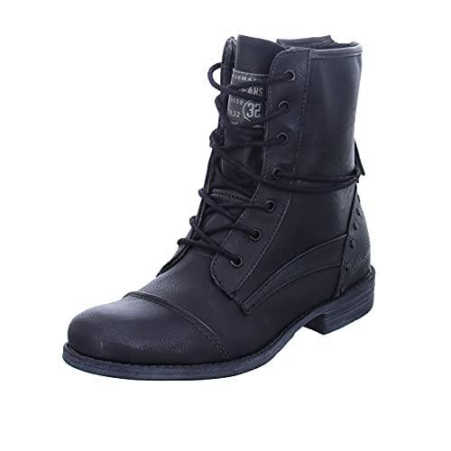 Mustang Damen 1157-508 Kurzschaft Stiefel, schwarz, 39 EU