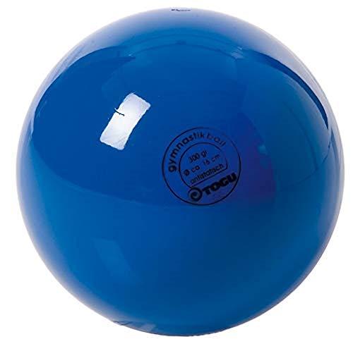 TOGU Unisex– Erwachsene Gymnastikball Standard Unlackiert, Blau, 16