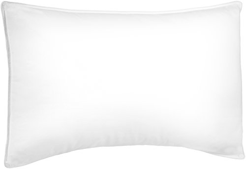 Amazon Brand – Pinzon Shed-Resistant White Duck Down Pillow - Firm Density, Standard