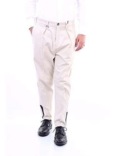 PAOLO PECORA B1210655 Pantaloni da Uomo Regolari, Beige, 52