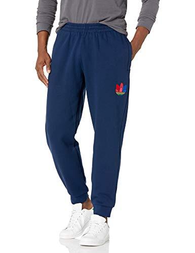 adidas Originals Pantalones deportivos para hombre con diseño de trébol 3D - azul - X-Small