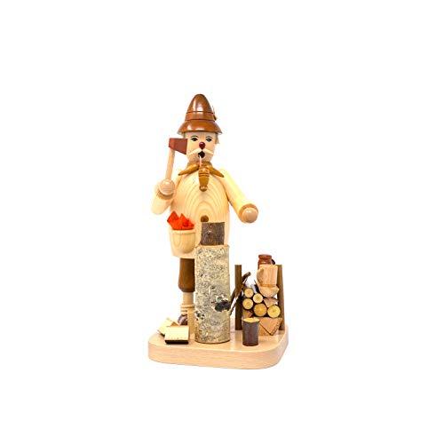 Drechslerei Friedbert Uhlig 048/H - Figura de picador de madera natural (25 cm de altura, madera regional, torneada, hecha a mano)