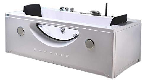 GRAFICA MA.RO SRL Spa con hidromasaje 180 x 90 cm Modelo Bañera Armonía esquina del baño con cromoterapia Nuevo 2 personas para
