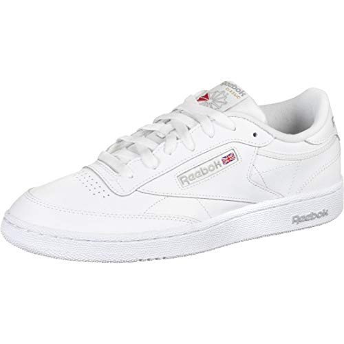 Reebok Club C 85, Sneaker Hombre, Intense White/Sheer Grey, 44.5 EU ⭐
