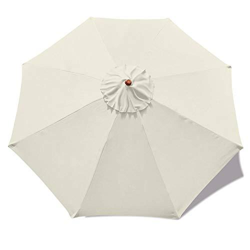 ABCCANOPY - Ombrello di ricambio per esterni, 2,7 m, con 8 stecche, 23 + colori, Light Beige-05A