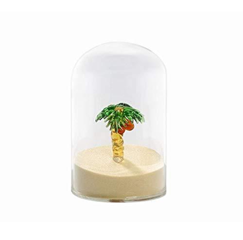 Briefbeschwerer und Büro-Dekoration für den Schreibtisch, hübsches Urlaubs-Accessoire mit Palme und Sand für Urlaubsgefühl im Büro von notrash2003
