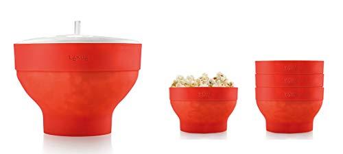 Lékué XL Popcorn - Set para microondas con un molde de...