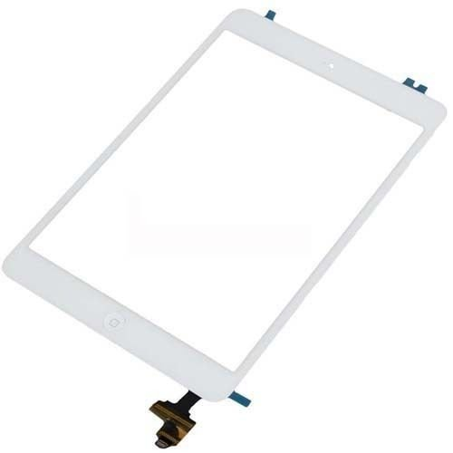 Sagrun New White Touch Screen Digitizer Ic Connector + Home Button Flex for Ipad Mini