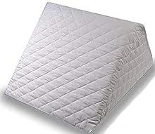 ENERGY COLORS Textil-Hogar Almohada Cojín Tipo Cuña - Desenfundable - Descanso en la Cama/Sofá Ideal para Leer 40x40x30cm