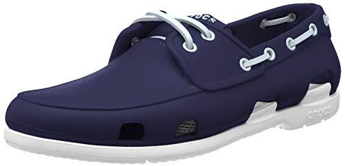 Crocs Beach Line Boat Shoe Men, Herren Bootsschuhe, Blau (Navy/White), 45/46 EU