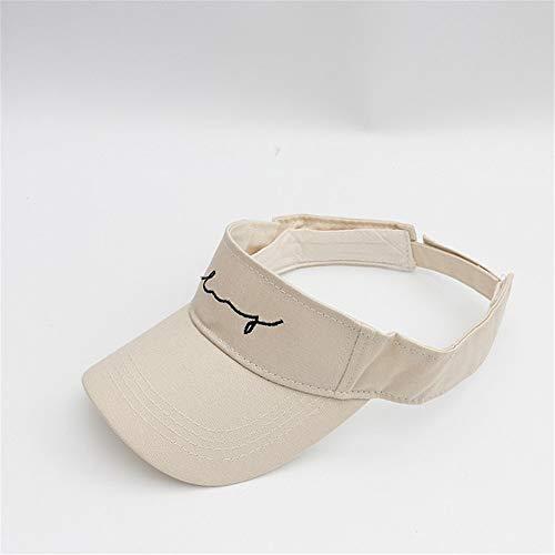 LTH-GD Wintermütze und Mütze, verstellbar, bestickt, Buchstaben, Visier, UV-Schutz, Sommer-Stil, weiß, Damen (Farbe: Weiß, Größe: freie Größe)