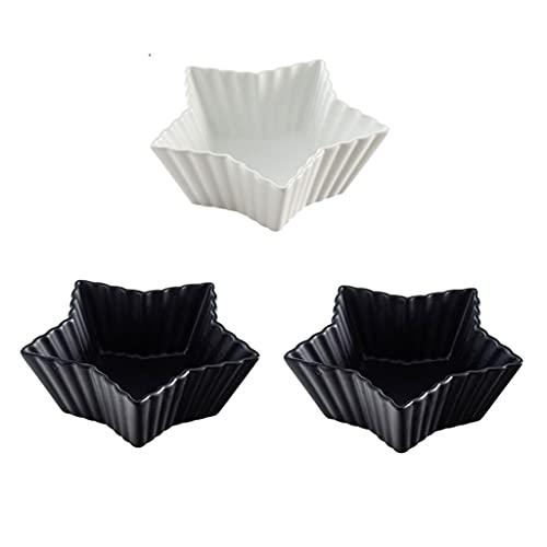 Plato de Salsa de Soja 5.91 Pulgadas de cerámica Placas de Postre Sushi Snack Ensalada Docitas Tazones Condimentos Platos Aperitivos Placas Sirviendo Platos Platos Bowl