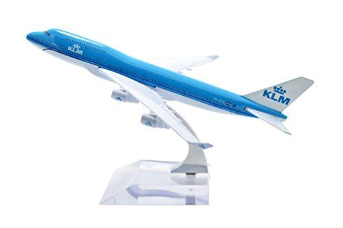 TANG DYNASTY(TM) 1:400 16cm B747-400 KLM Metal Airplane Model Plane Toy Plane Model