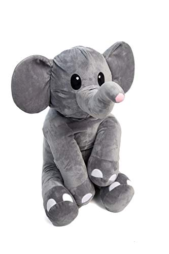 Hudz Kidz Stuffed Elephant Animal Toy for Boys & Girls Cute Plush Toys for Babies, Infants & Toddlers   Huggable, Cuddly Elephant Makes an Excellent Idea (X-Large)