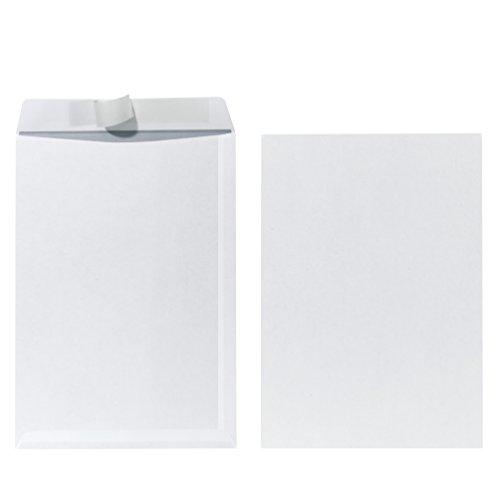 Herlitz Versandtasche C4 90 g Haftklebend, 10 Stück mit Innendruck in Folienpackung, eingeschweißt, weiß