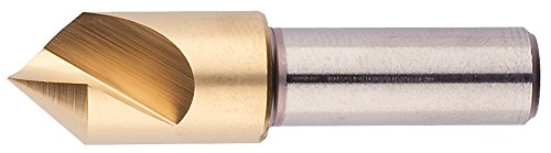 Morse Cutting Tools 25663 Single Flute Countersink, M42 8% Cobalt, Titanium Nitride Coated, 82 Degree Point, 3/4