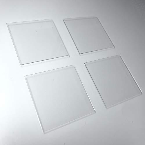 Alpha Nanotech Quartz Plates (30 mm x 30 mm x 1 mm, 4 Pcs)
