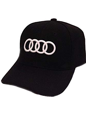 Car Logo Adjustable Baseball Cap, Unisex Hat Travel Cap Racing Hat for Audi-Black. New!