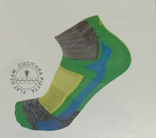 Mico - Chaussette courte étudiée pour la course légère - Gris-XXL