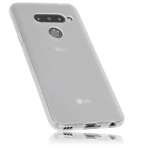 mumbi Hülle kompatibel mit LG V40 ThinQ Handy Hülle Handyhülle, transparent weiss