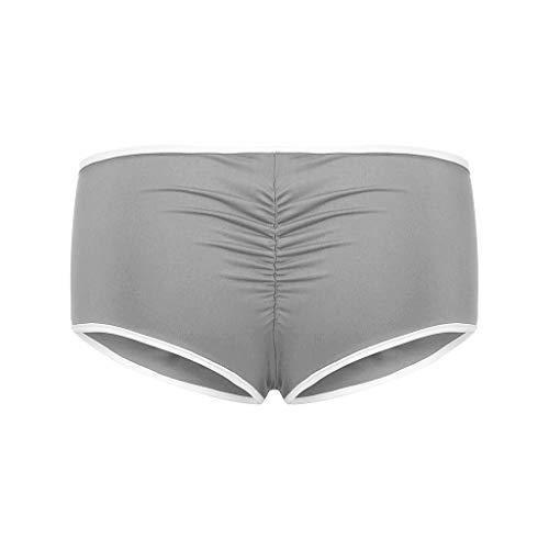YANFANG Mallas de Deporte de Mujer, Calzoncillos elásticos de Cintura Alta sólidos para Mujer Pantalones Cortos de Yoga para Correr,Cintura Alta,para Reducir Vientre
