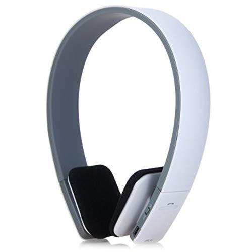 Scra AC BQ - 618 Wireless Bluetooth V4.1 + EDR Auricular Manos Libres con navegación Inteligente por Voz para celulares Tableta (Color : White)