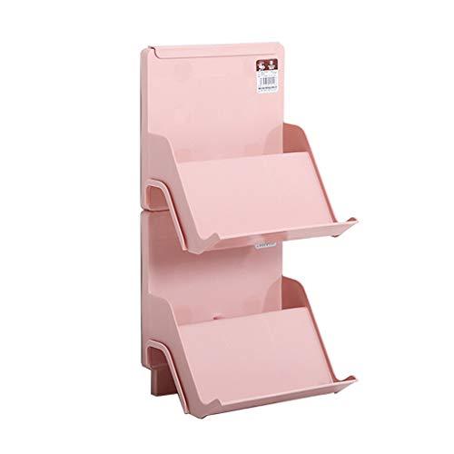 HTDZDX - Zapatero Creativo de Varias Capas de plástico apilable, fácil de Montar, Ahorra Espacio, Acabado en Capas, pequeño Zapatero (Color: Rosa/Azul/Beige)