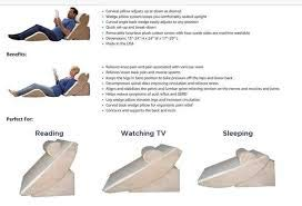 Relax The Back PureFit Adjustable Bed Wedge Pillow...